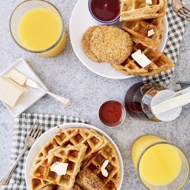 Gluten-Free, Vegan Chicken and Waffles