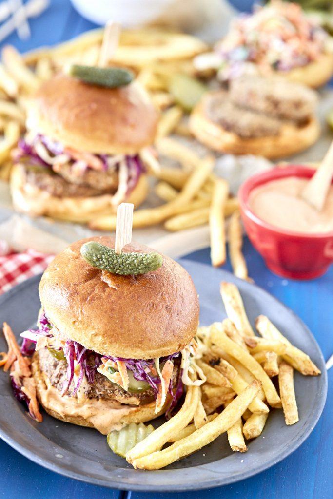 Vegan Cajun Fried Chicken Sandwich