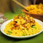 Cauliflower Chickpea Tagine with Lemon Parsley Couscous