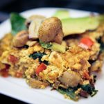Spinach, Mushroom, and Red Bell Pepper Frittata