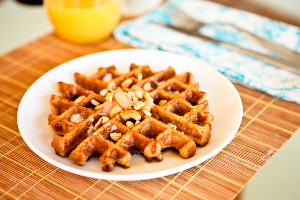 Roasted Grapefruit Waffles