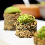 Dandelion & Bean Quinoa Cakes with Peasamole