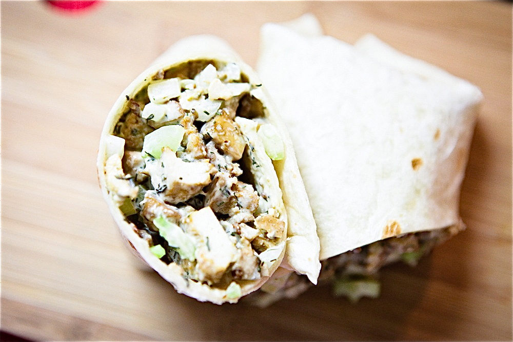 Chickenless Salad Wrap