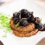 Black-Eyed Pea Mole Cakes with Blackberry Mint Salsa