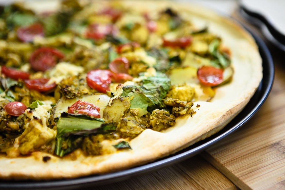 Tofu Scramble Pizza