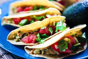 Cilantro Avocado Chickpea Salad Tacos 5