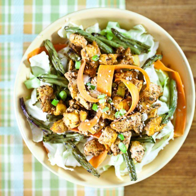 chickenless cabbage salad
