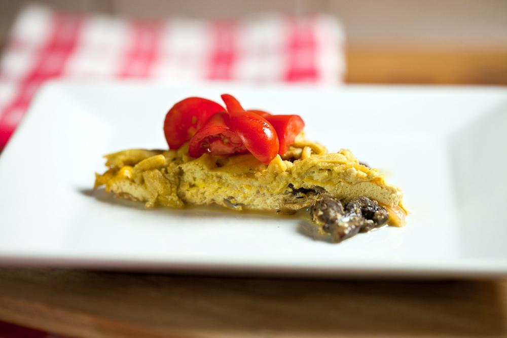 Mushroom Cheddar Frittata