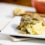 Chickpea Caulipots with Miso Mushroom Gravy