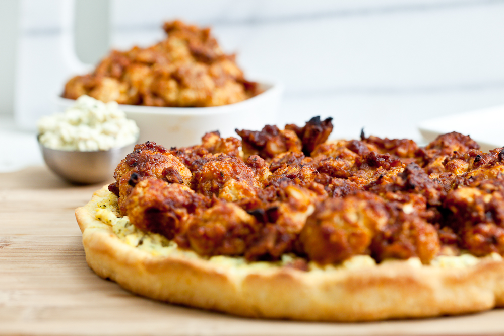 Buffalo Cauliflower Wing Pizza