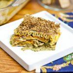 Butternut & Wild Mushroom Lasagna with Pecan Parmesan