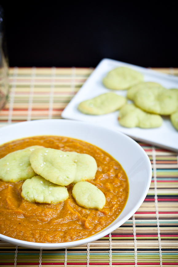 Curried Acorn Carrot Soup