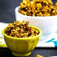 Triple Ginger Molasses Granola