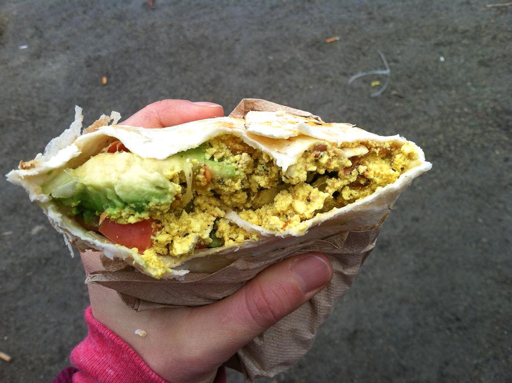 The Cinnamon Snail Breakfast Burrito