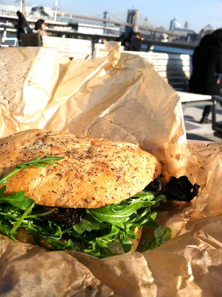 The Cinnamon Snail Portobello Carpaccio Sandwich