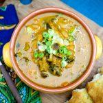 Sweet Potato Butternut Stew with White Beans & Chard