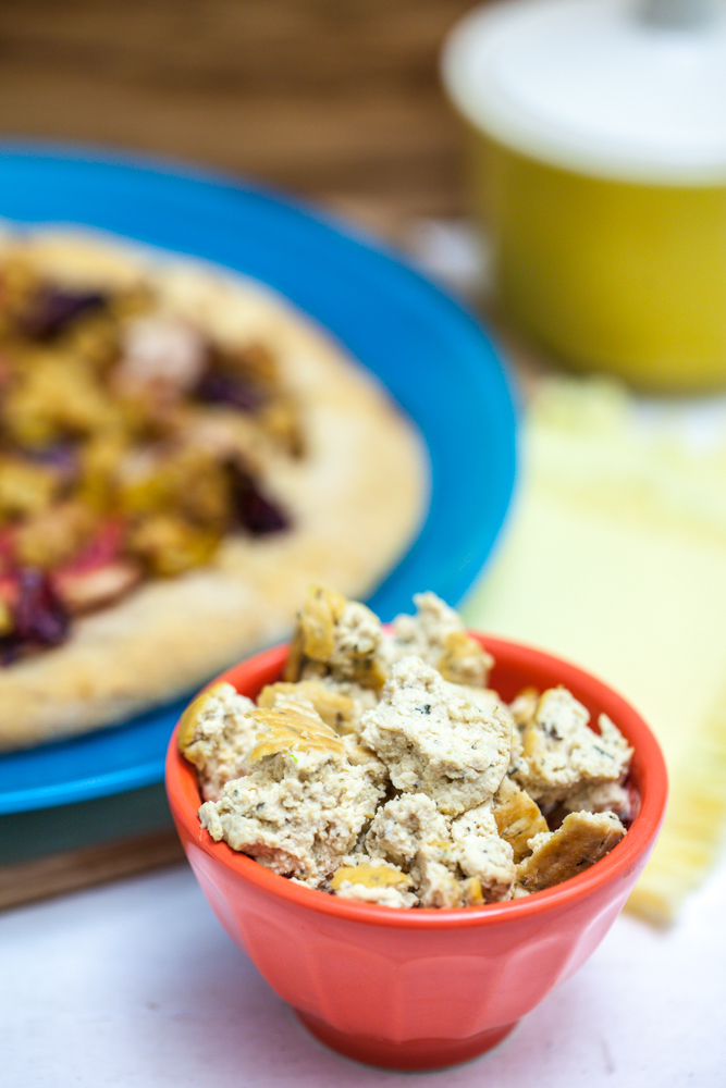 Roasted Beet, Blood Orange & Fennel Pizza with Tofu Chèvre