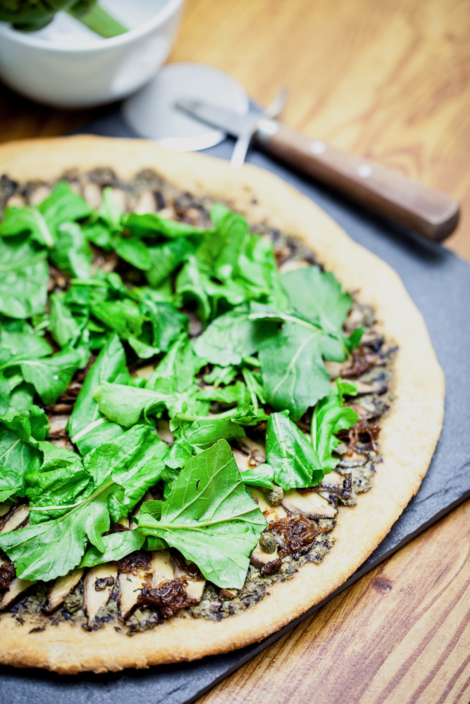 Portobello Carpaccio Pizza | Keepin' It Kind