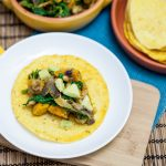 Chanterelle, White Bean & Cheesy Roasted Kabocha Tacos