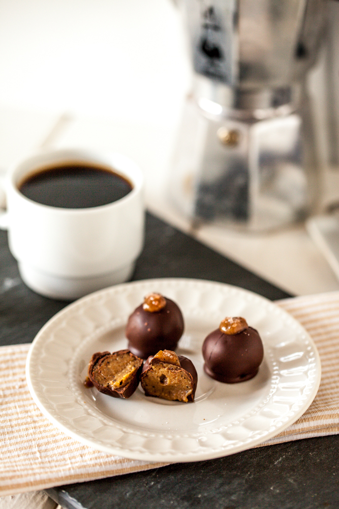 Chocolate Caramel Macchiato Truffles