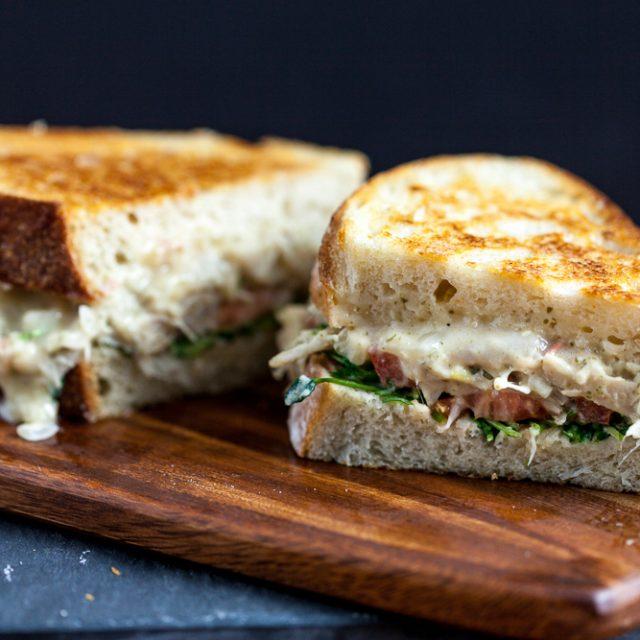 Jackfruit 'Tuna' Melt Sandwich