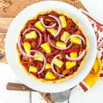 Hawaiian BBQ Jackfruit Pizza