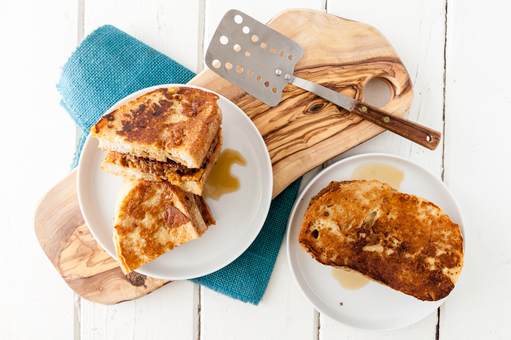 Vegan Sausage French Toast Breakfast Sandwich