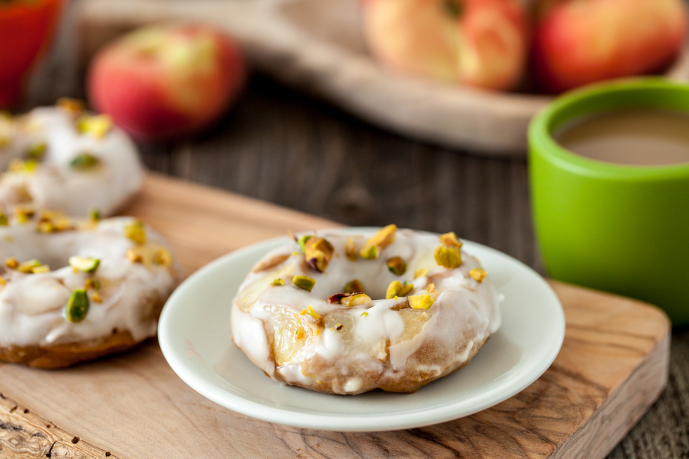Peaches and Cream Doughnuts