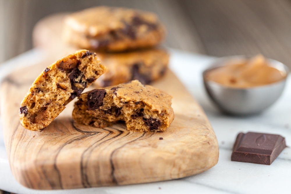 Salted Caramel Apple Butter Chocolate Chunk Cookies