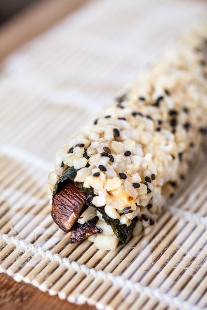 Smoky Roasted Portobello Sushi