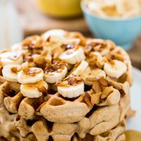Maple Bacon Peanut Butter Waffles