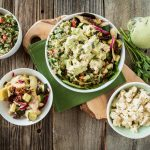 The Mediterranean Bowl with Quinoa Tabbouleh, Tofu Feta & Tahini Herb Dressing