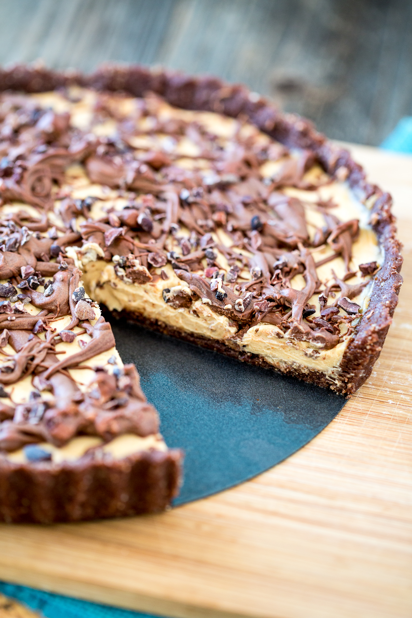 No-Bake Chocolate Peanut Butter Tart