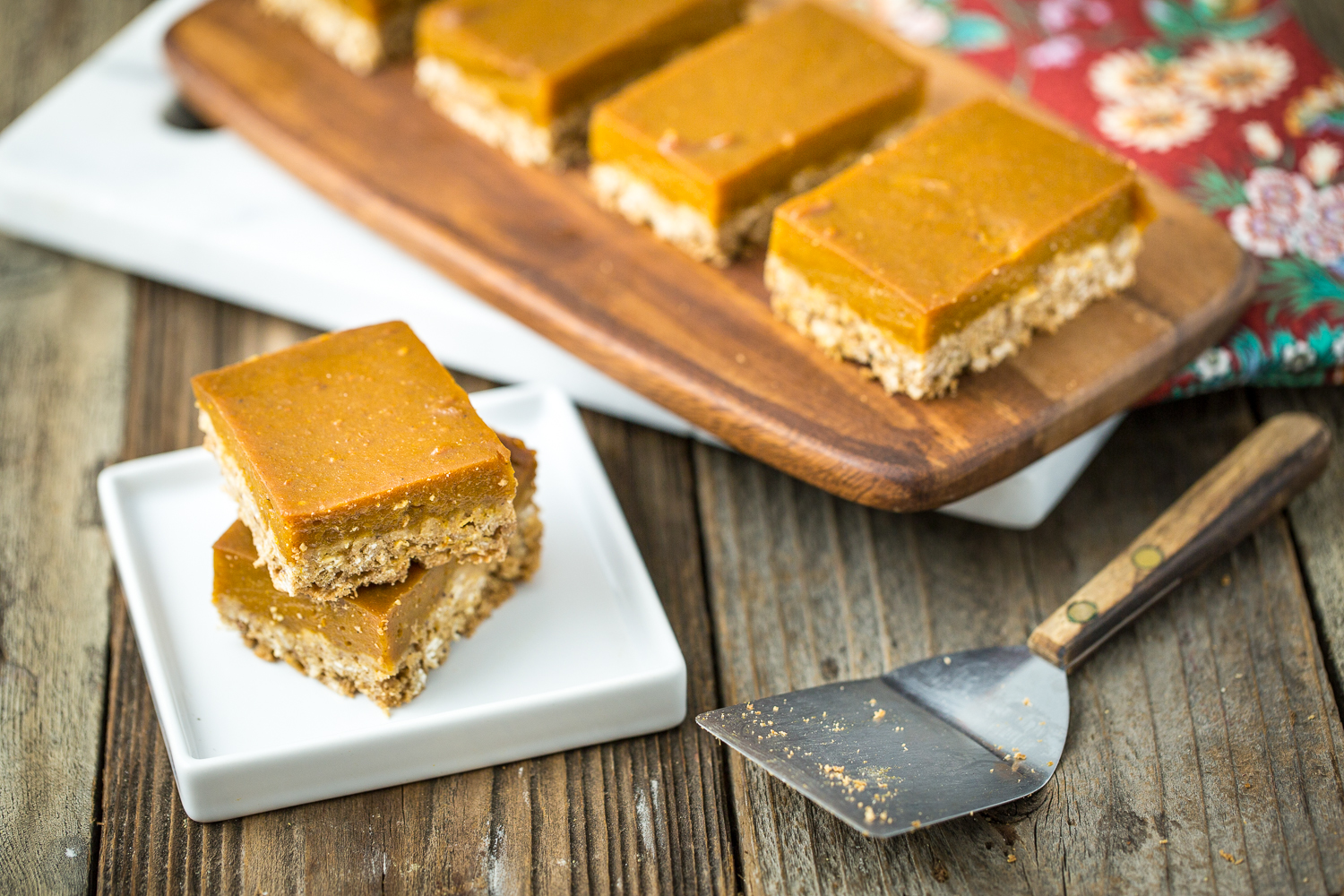 Oatmeal Pumpkin Pie Bars
