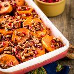 Pomegranate Orange Sweet Potato Bake