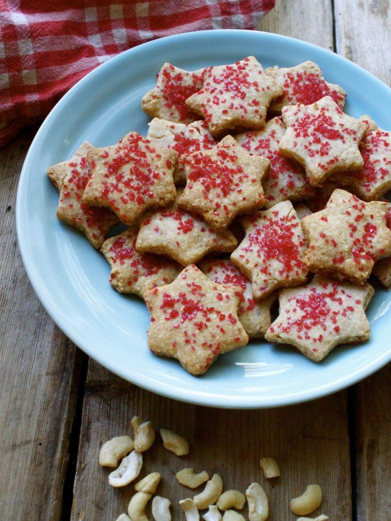 Shira's Vegan Cashew Shortbread Cookies