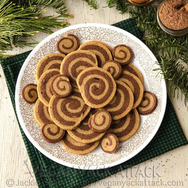 Jackie's Chocolate Biscoff Pinwheel Cookies