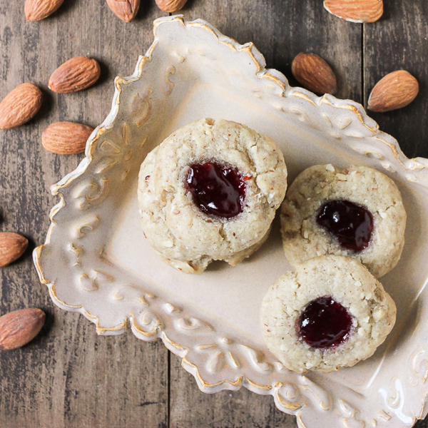 Ketty's Raspberry Almond Thumbprint Cookies