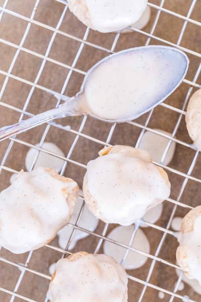 Vanilla Bean-Glazed Banana Donut Holes
