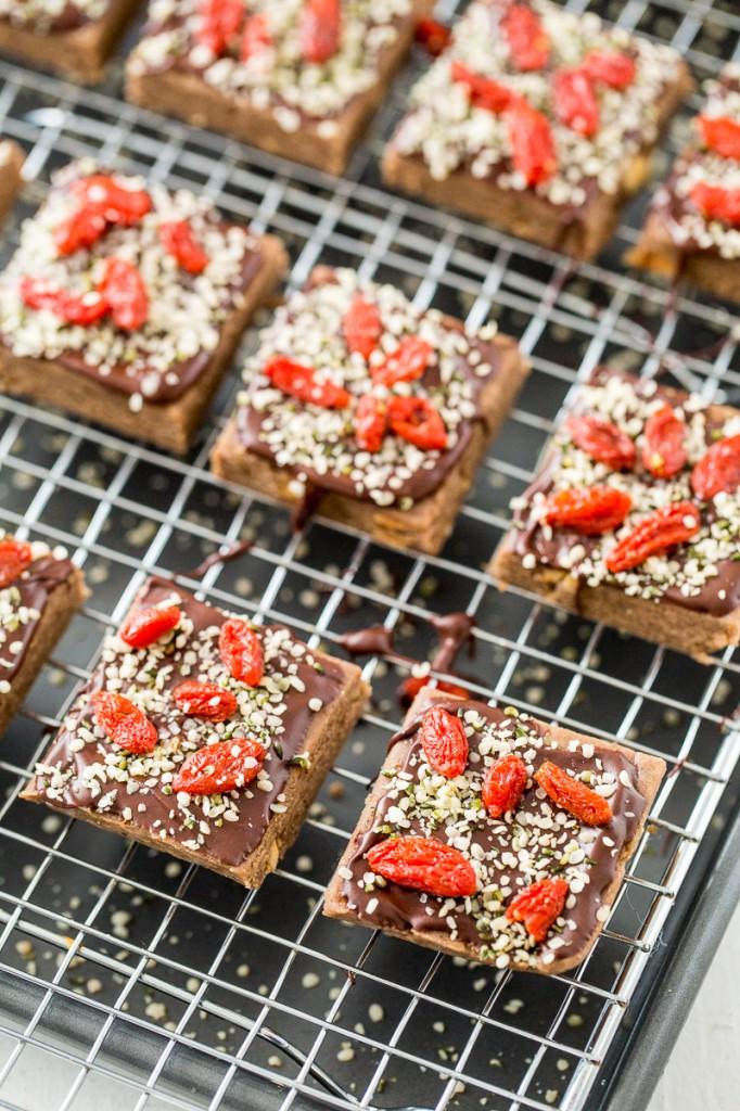 Hemp Chocolate-Berry Protein Bars