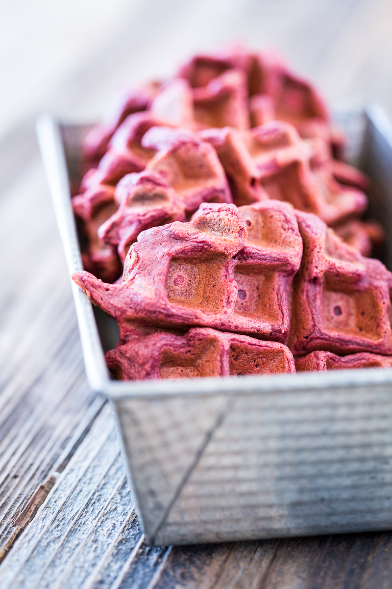 Sugar-Free Red Velvet Waffles with Cream Cheese