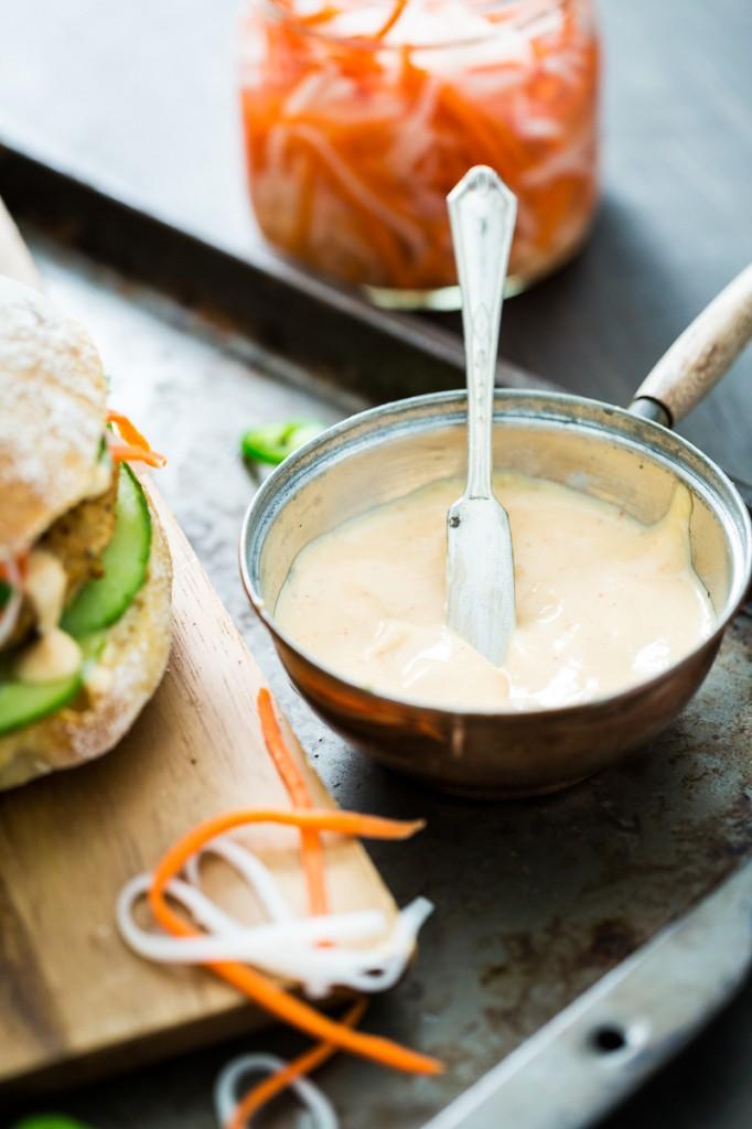 Lemongrass Tofu Banh Mi Burgers