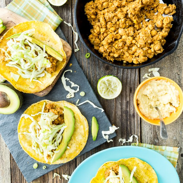 20-Minute Bean & Cheese Tacos with 2-Ingredient Vegan Cheese