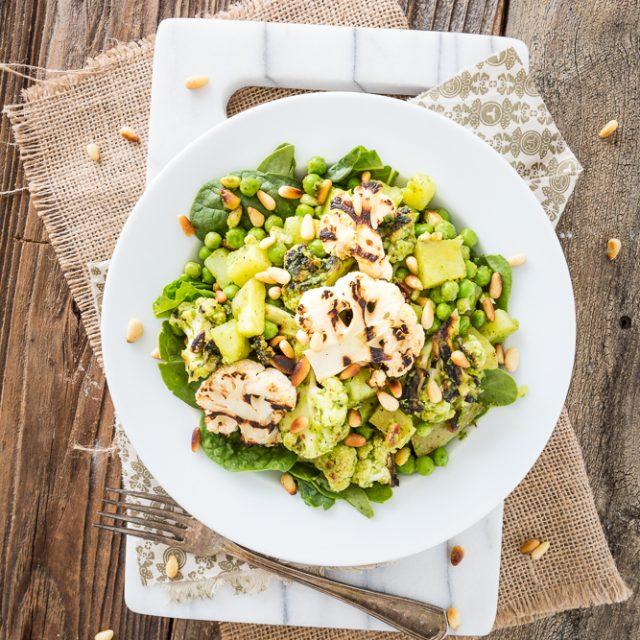 Pesto Cauliflower Potato Salad from Salad Samurai