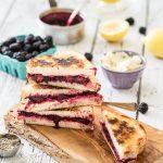 Lemon-Lavender Blackberry & Ricotta Grilled Cheese Sandwiches