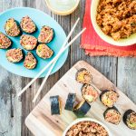 Mexican Sushi with Spanish Rice and No-Cook Walnut Taco Meat