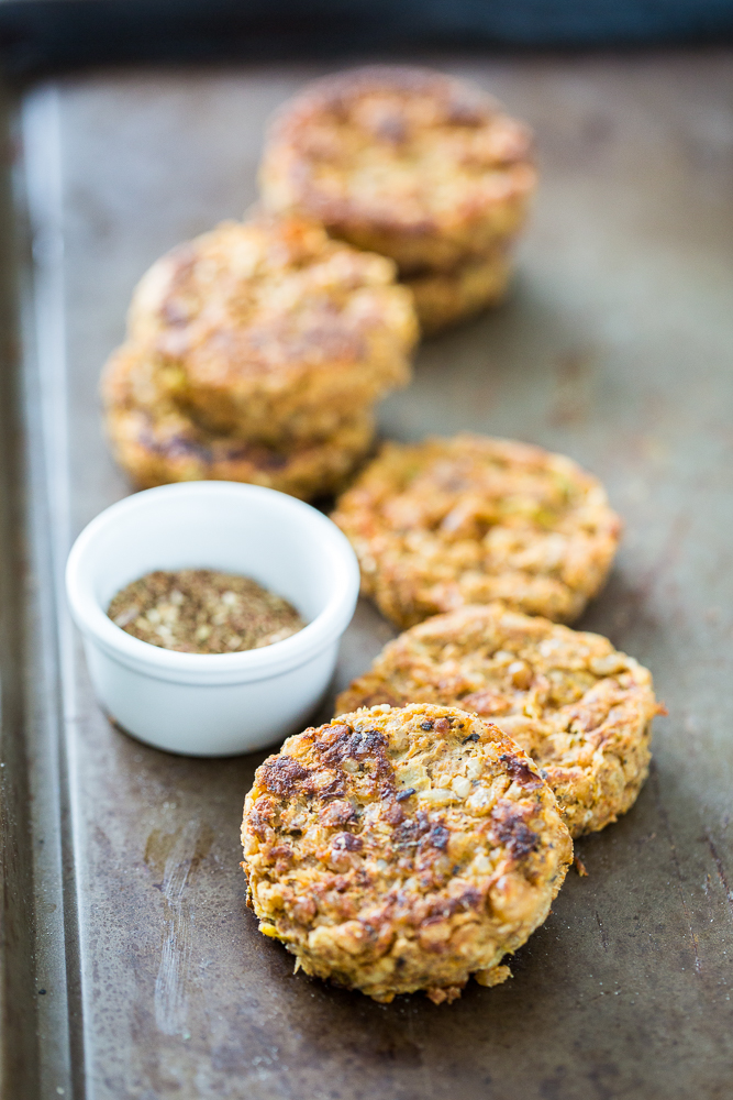 Za'atar Chickpea Burgers with Heirloom Tomato & Apricot Chutney