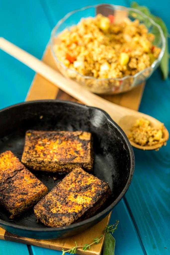 Cajun Tofu & Dirty Quinoa | The Lusty Vegan