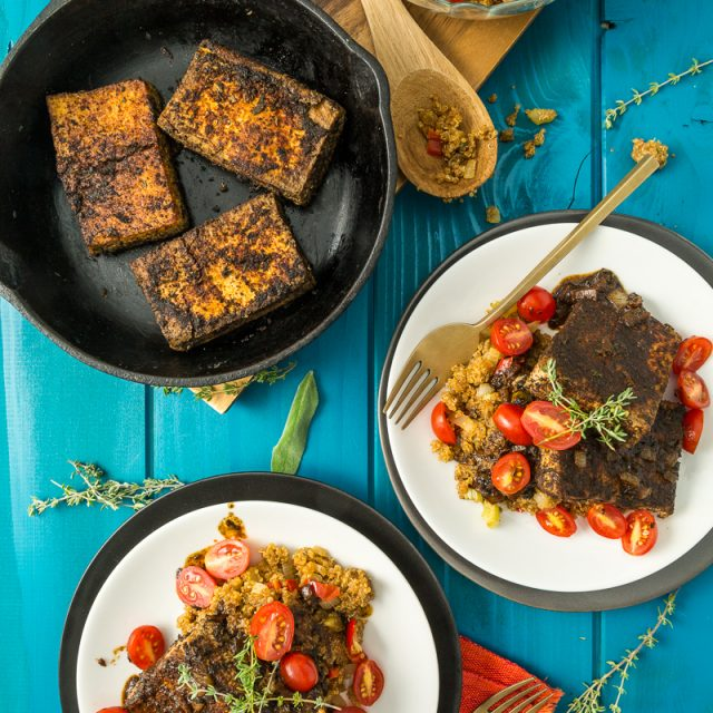 Cajun Tofu & Dirty Quinoa | The Lusty Vegan