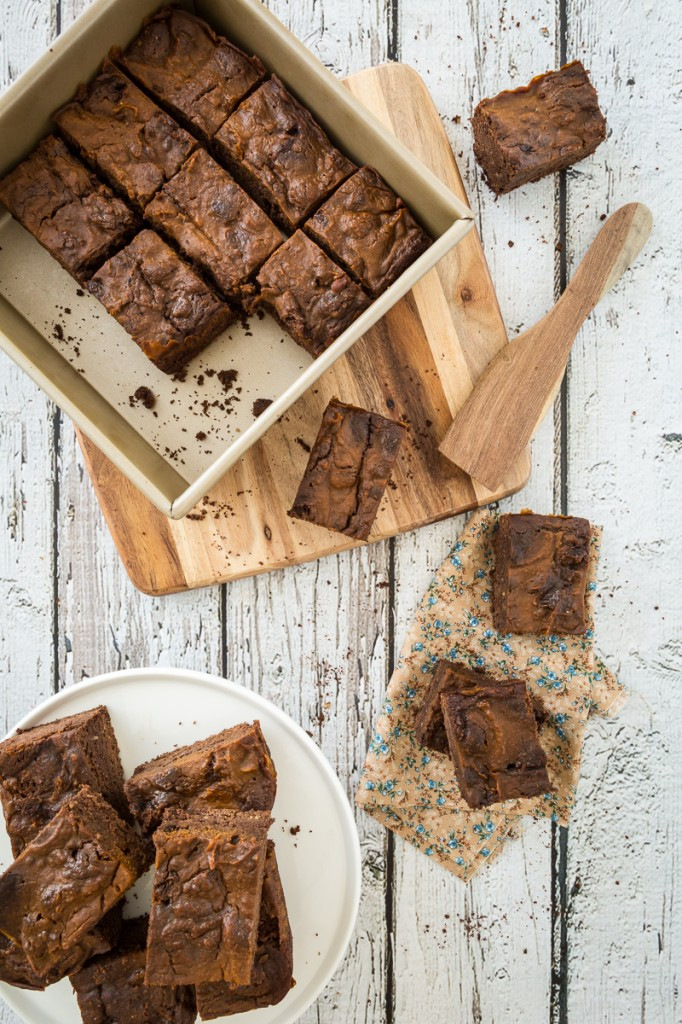 Vegan, Gluten-Free Pumpkin Swirl Brownies